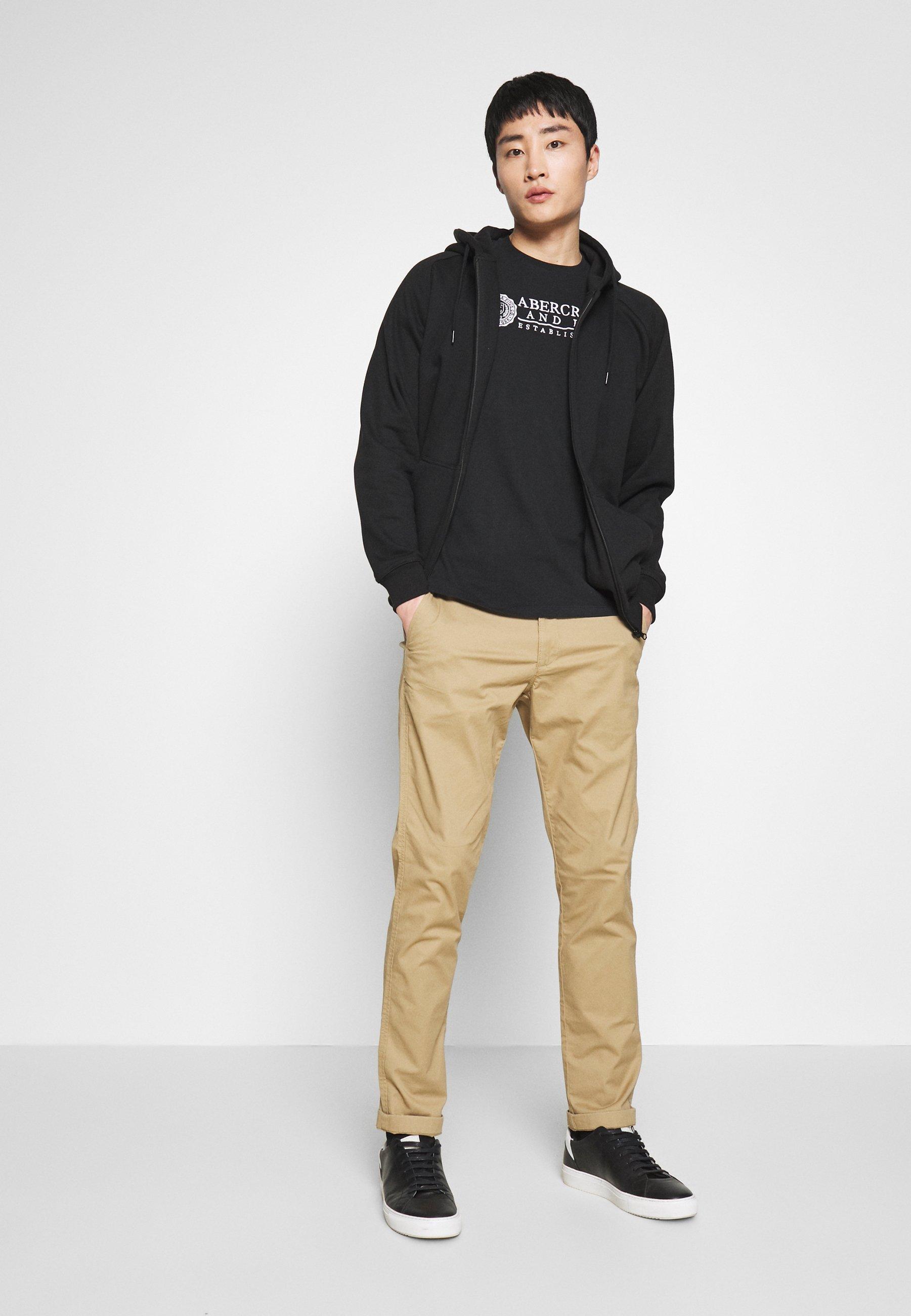 Abercrombie & Fitch Heritage - T-shirt Z Nadrukiem Black