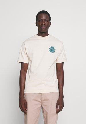 JAPANESE WAVE DOT UNISEX - T-shirt print - off white