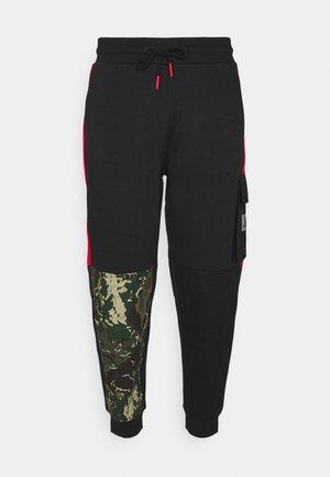 CAMO BLOCK - Pantaloni cargo - black