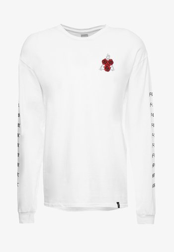 BONES AND ROSES TEE - Long sleeved top - white