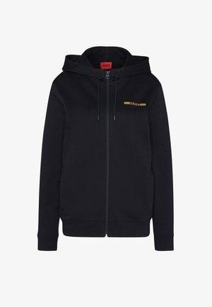 DINORO METALLIC UNISEX - Zip-up sweatshirt - black/gold