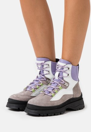 BOOT - Platform ankle boots - grey