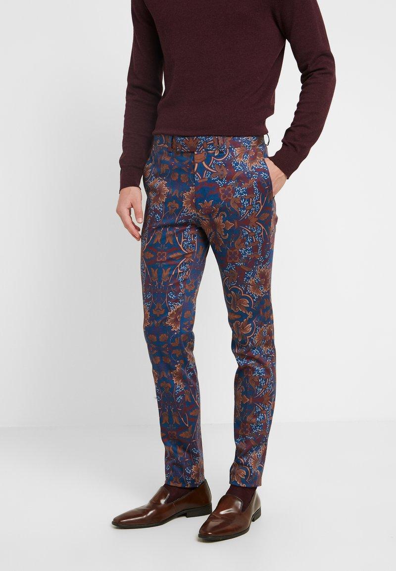 Topman - PRINTED TROUSER - Oblekové kalhoty - multi
