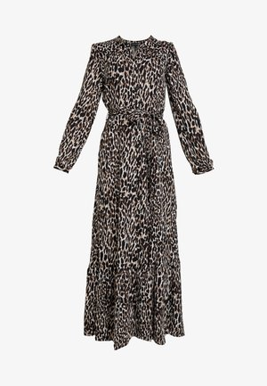BUTTON DOWN ANIMAL - Maxi dress - brown