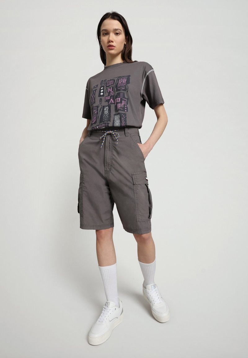 Napapijri - S-KEE - T-shirt med print - grey gargoyle