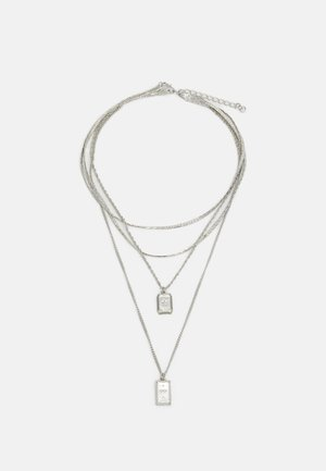 PCJEBRUK COMBI NECKLACE - Collana - silver-coloured