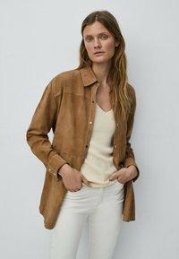 Massimo Dutti - Short coat - beige - 2