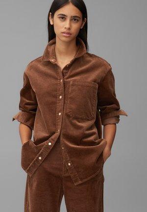 Button-down blouse - fantastic brown