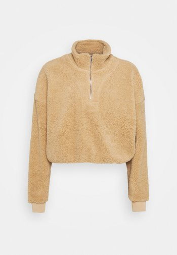TEDDY ZIP NECK CROPPED