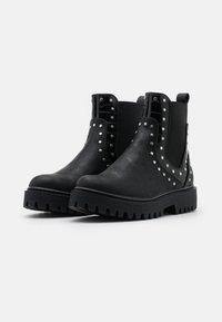 Even&Odd Wide Fit - Kotníkové boty - black - 2