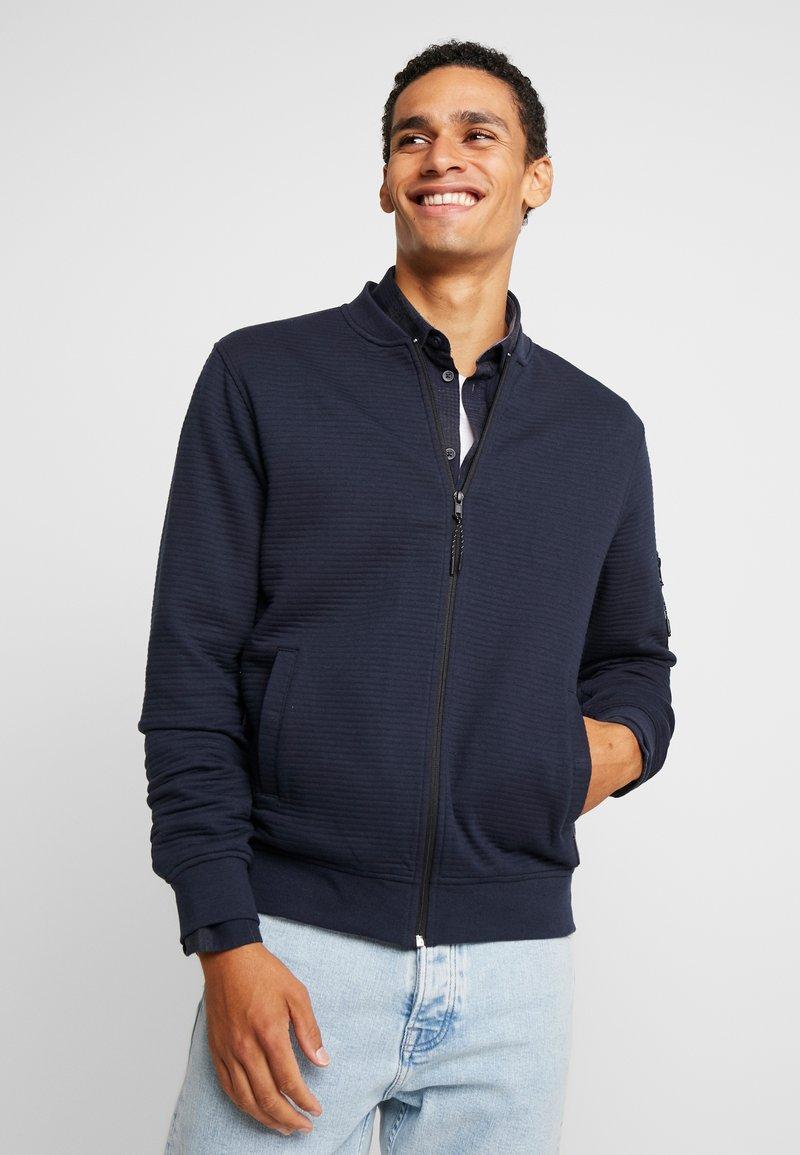 INDICODE JEANS - LANYARD - Zip-up hoodie - navy
