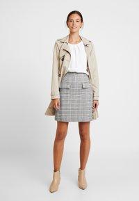 Great Plains London - PARADIS CHECK - A-line skirt - black combo - 1