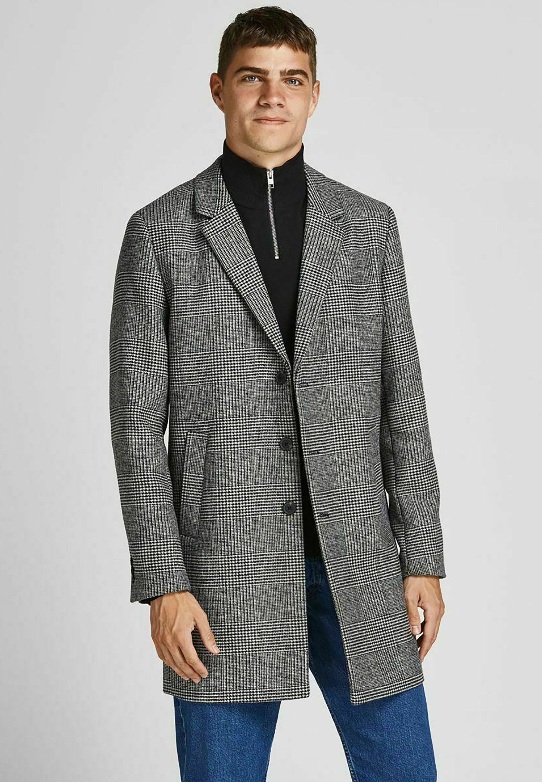 Homme JJEMOULDER COAT - Manteau classique - light grey melange