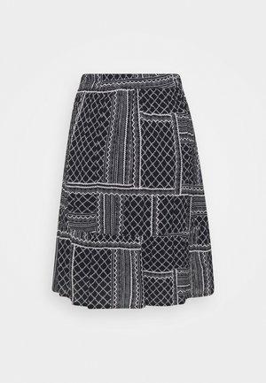 MERKA AMBER SKIRT - A-snit nederdel/ A-formede nederdele - black/chalk
