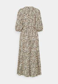 Object Tall - OBJHESSA MIDI DRESS TALL - Shirt dress - sandshell/animal dots - 1