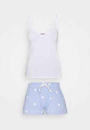 Yöasusetti - white/blue
