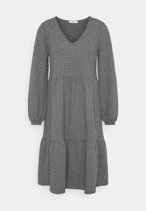 ONLGRACE DRESS - Jersey dress - dark grey melange/black