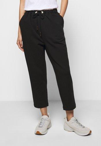 ORGANIC PEARL CORD STOPPER - Teplákové kalhoty - black