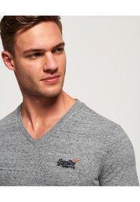 Superdry - VINTAGE  - T-shirt basic - flint stahlgrau gesprenkelt - 3
