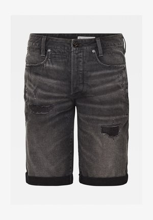 Denim shorts - worn in tar black restored
