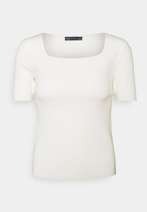 SQUARE NECK - T-shirt basic - off white