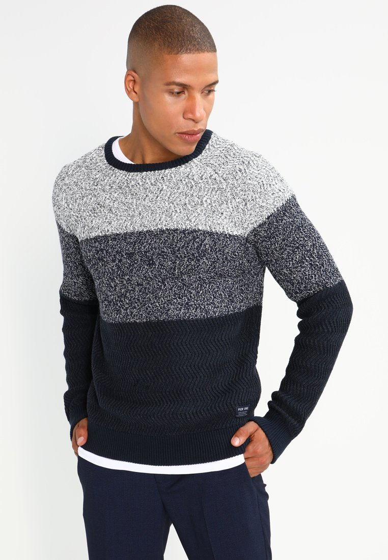 Pier One - Strikpullover /Striktrøjer - mottled dark blue