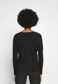G-Star - CORE STRAIGHT V T WMN L\S - Langarmshirt - dark black - 2