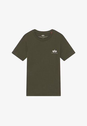 BASIC SMALL LOGO - Basic T-shirt - dark olive