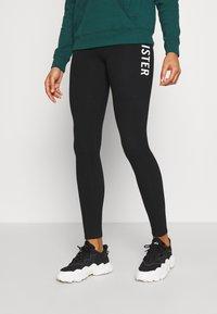 Hollister Co. - ECLECTIC - Leggings - Trousers - black - 0