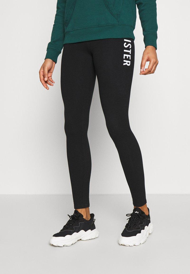 Hollister Co. - ECLECTIC - Leggings - Trousers - black