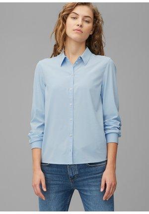 Button-down blouse - breezy blue