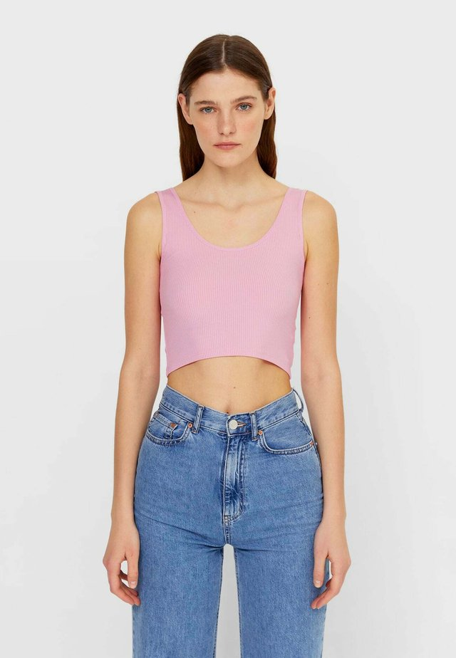 CROPPED - Top - mottled pink