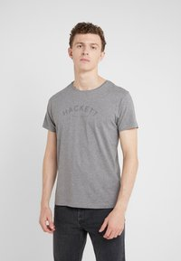Hackett London - CLASSIC LOGO TEE - Camiseta básica - grey marl - 0