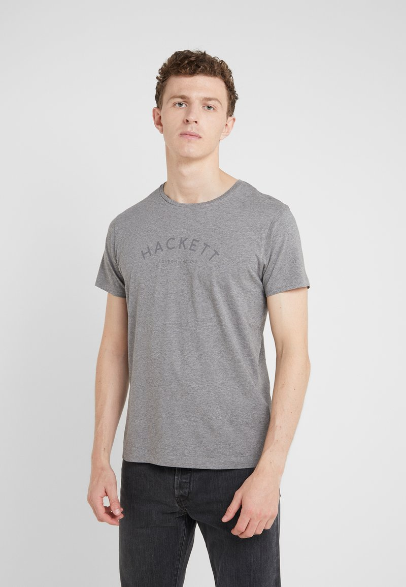 Hackett London - CLASSIC LOGO TEE - Camiseta básica - grey marl