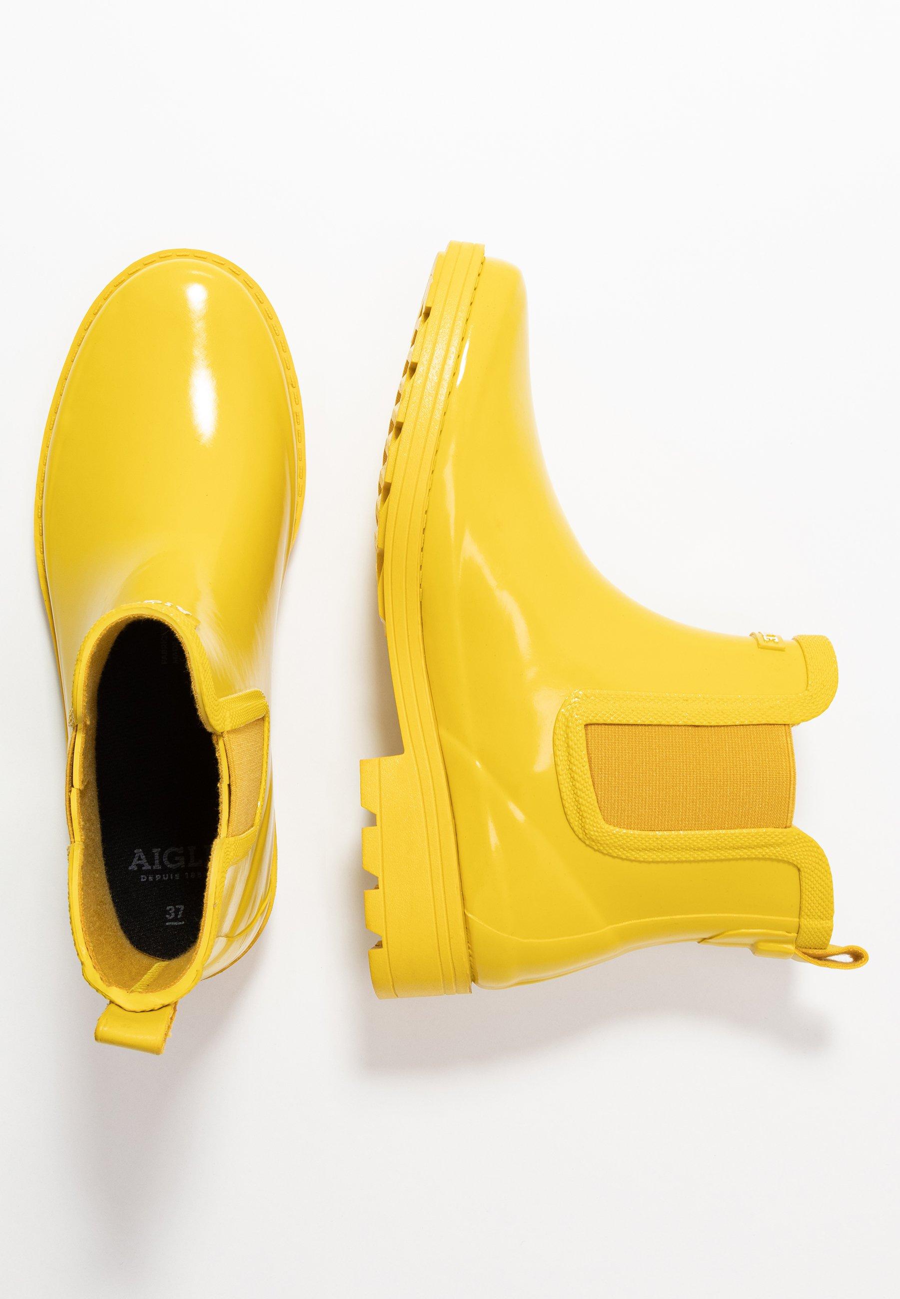 Aigle Carville Laarzen Dames Geel 37 Regenlaarzen Shoes