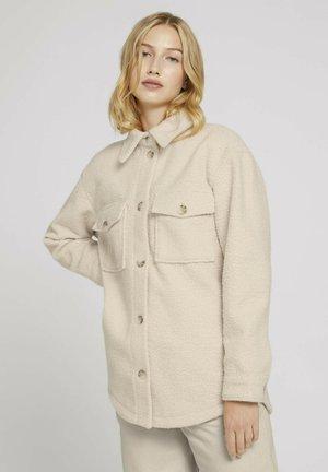 Fleece jacket -  beige