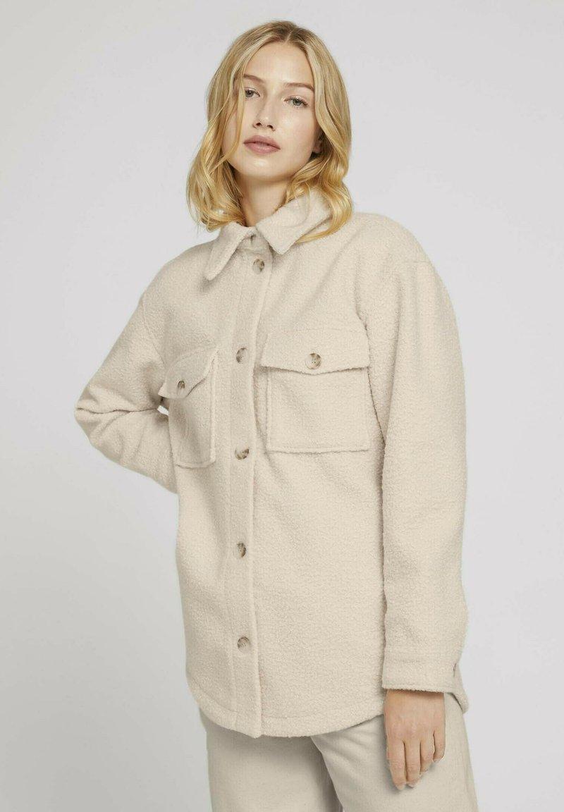 TOM TAILOR DENIM - Fleece jacket -  beige