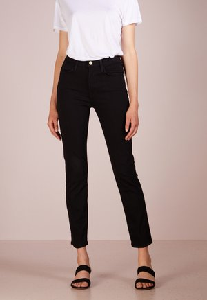 LE HIGH - Straight leg jeans - film noir