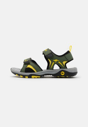 K-MONT - Walking sandals - olive/sun yellow