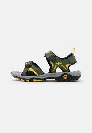 K-MONT - Chodecké sandály - olive/sun yellow