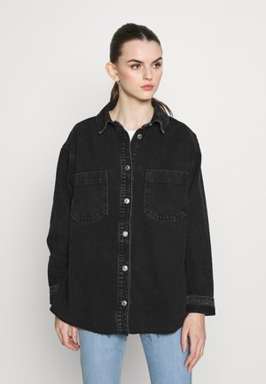 OVERSHIRT - Button-down blouse - black denim