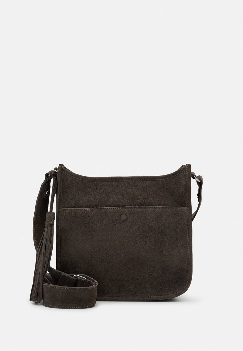 Zign - LEATHER - Across body bag - 8anthracite
