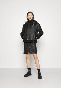 Diesel - EYRE - Leather jacket - black - 1