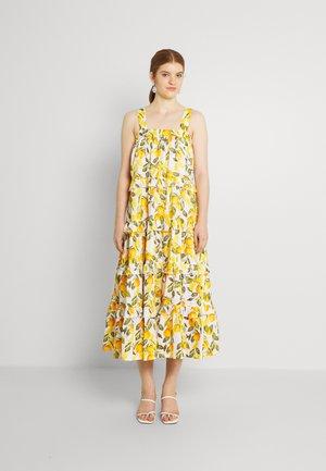 GROVE SCALLOP DRESS - Maxi dress - white/orange