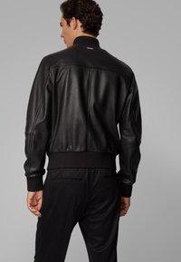 BOSS - MATEK - Leather jacket - black - 2