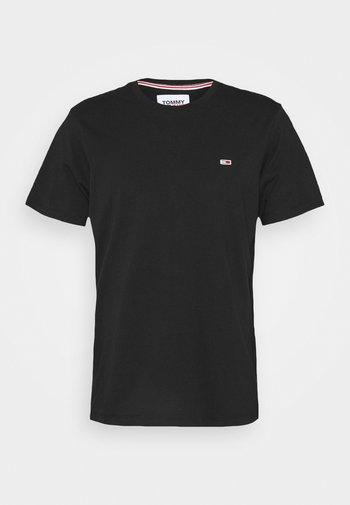 TJM CLASSIC JERSEY C NECK - T-paita - black