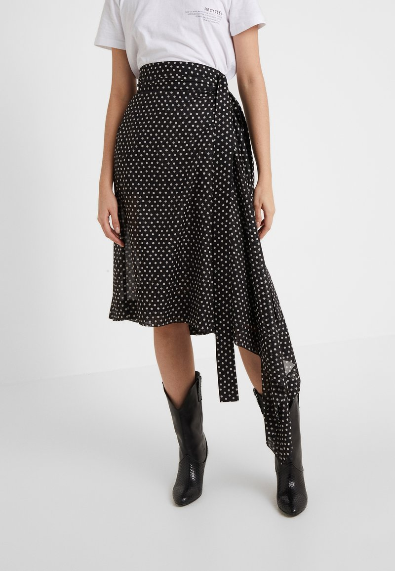 Vivienne Westwood Anglomania - BLANKET SKIRT - A-Linien-Rock - black/white