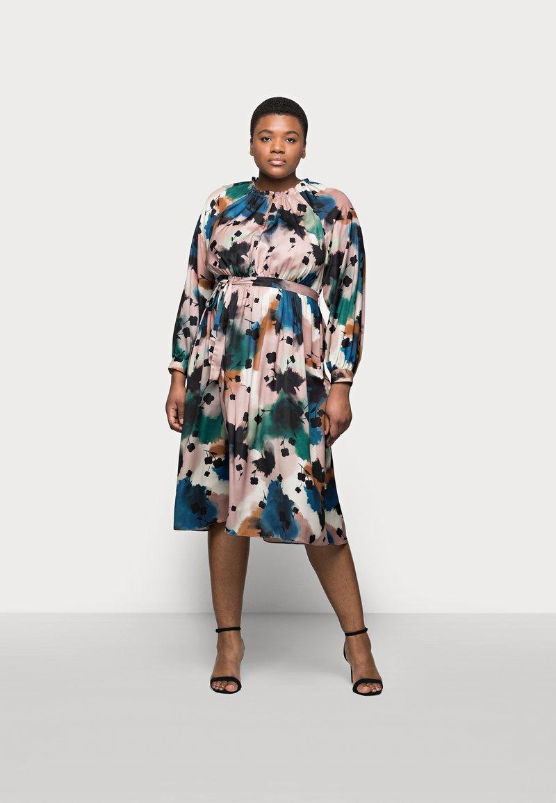 Marks & Spencer London - PRINTED MIDI DRES - Korte jurk - multi-coloured