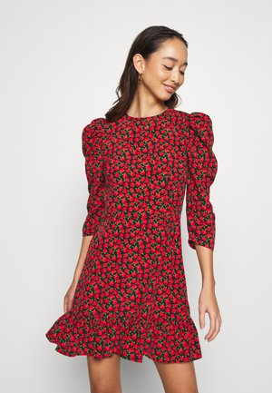 GRUNGE ROSE MINI - Vestido informal - red