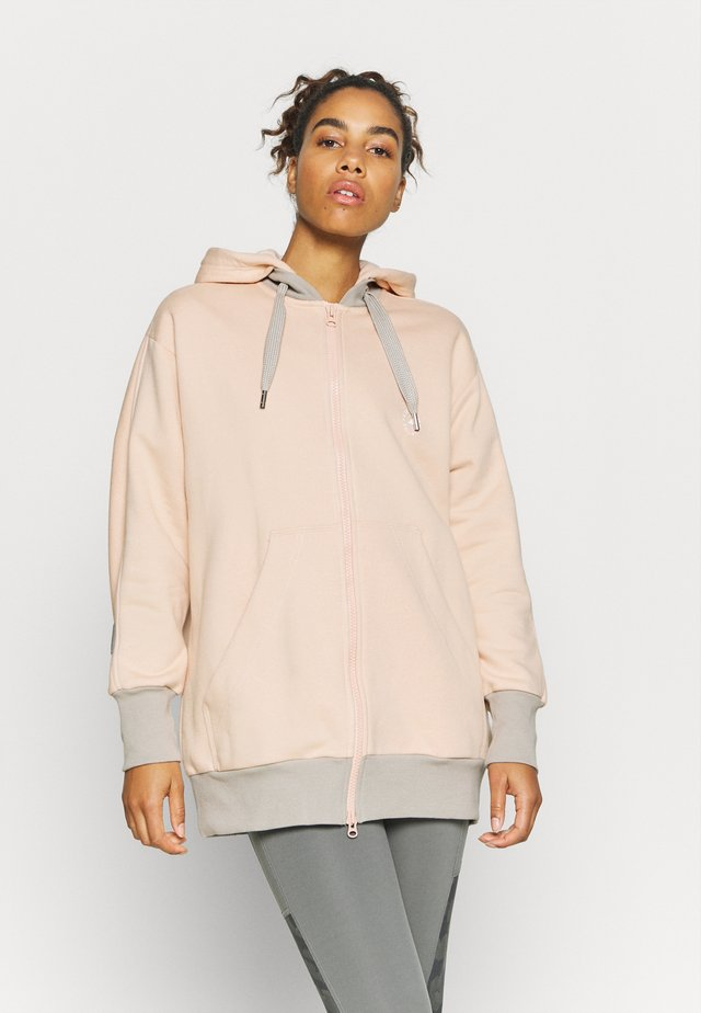 HOODIE - Zip-up hoodie - soft powder/light brown